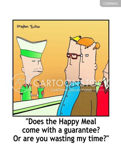 fastfood cartoon