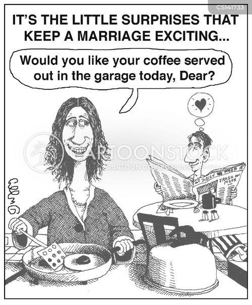 husband wife cartoon