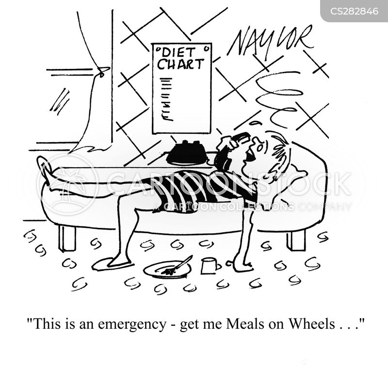 food delivery cartoon