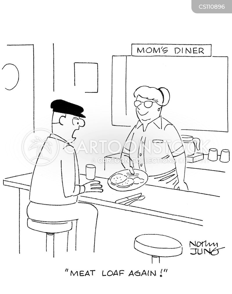 home cooked meal cartoon