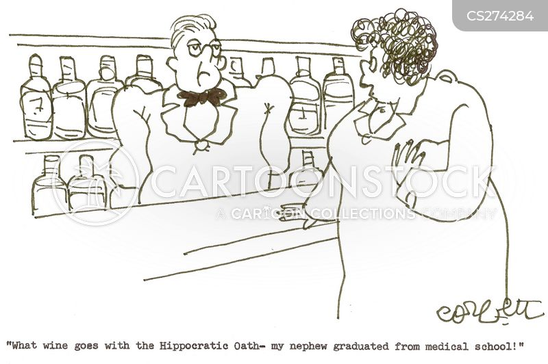 wine selections cartoon