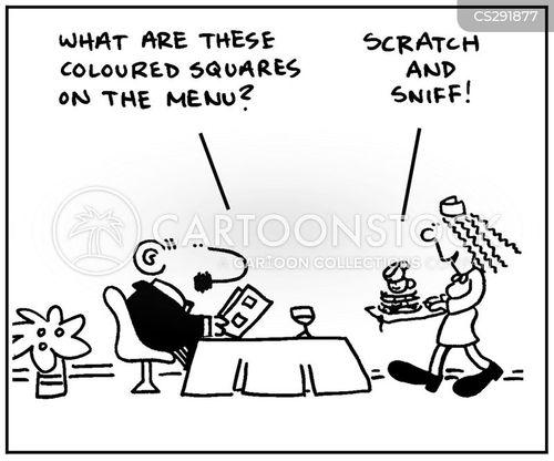 food samples cartoon