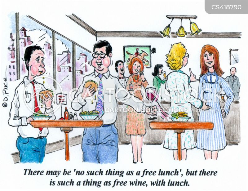corporate lunch cartoon