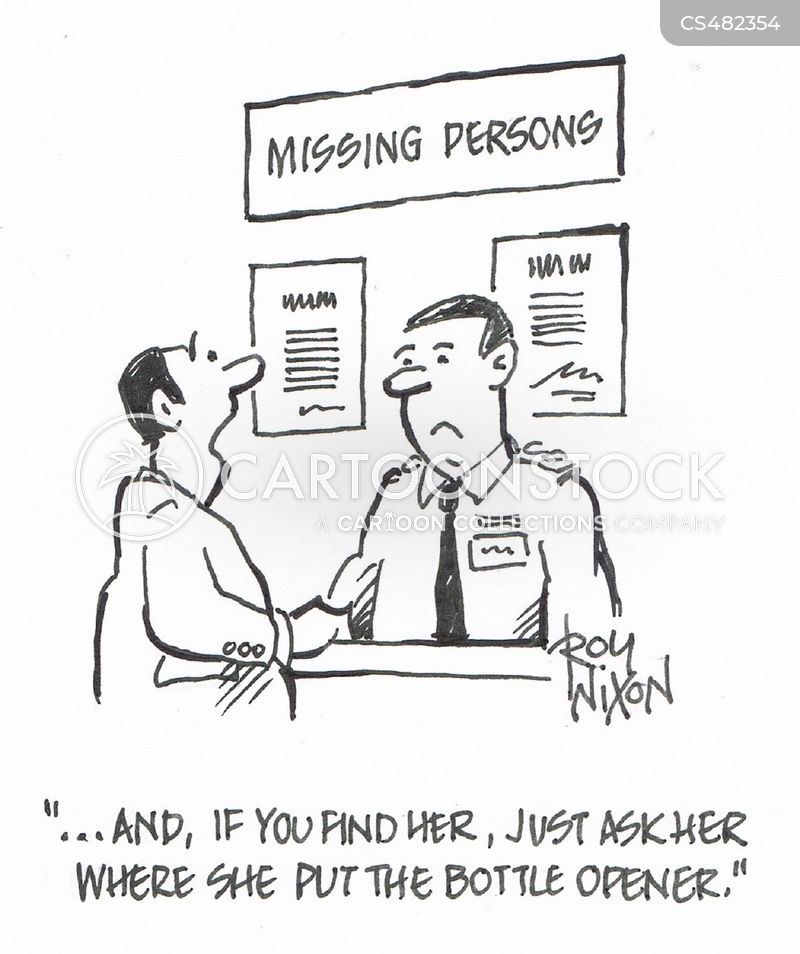 lost persons cartoon