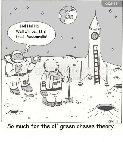 green cheese cartoon
