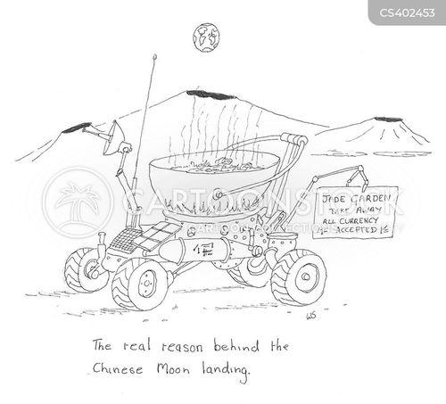 lunar landing cartoon