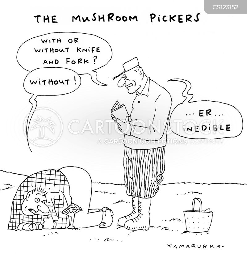 edible mushroom cartoon