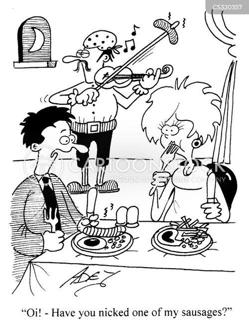 travelling musicians cartoon