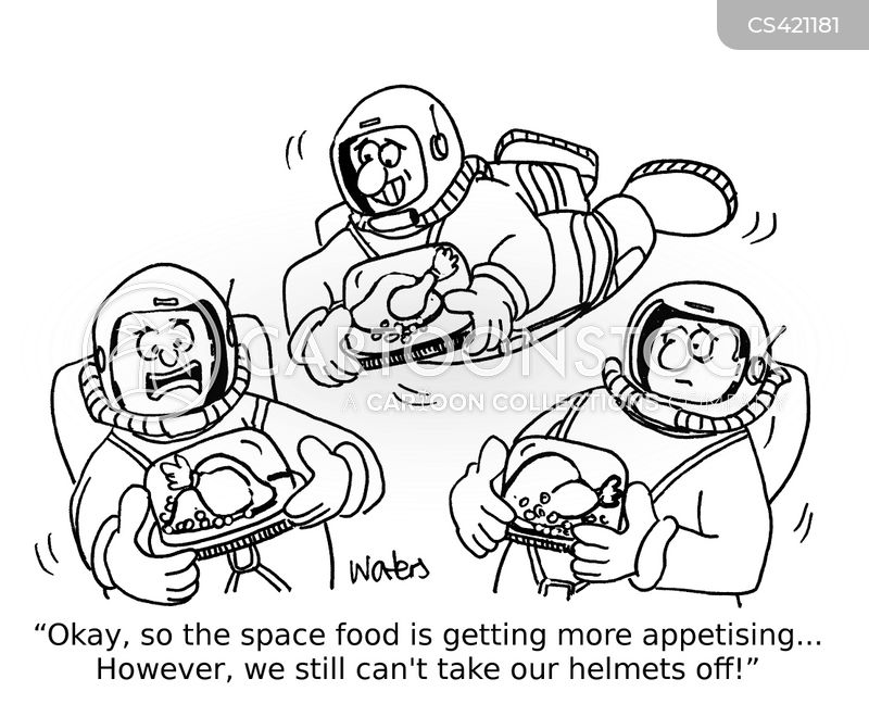 astronaut food cartoon