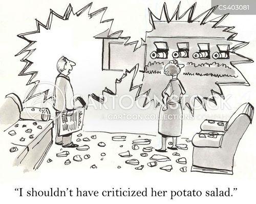 potato salad cartoon