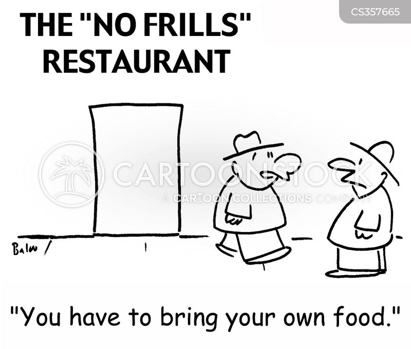 no frills cartoon