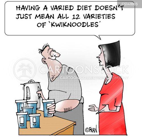 varied diet cartoon