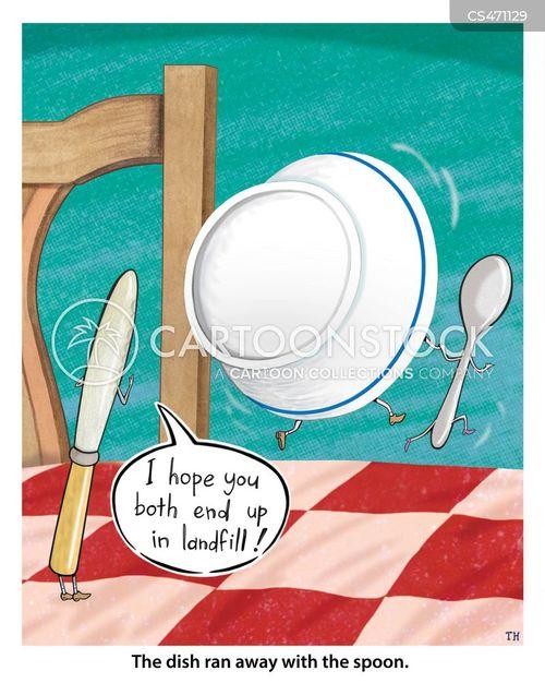 the dish ran away with the spoon cartoon