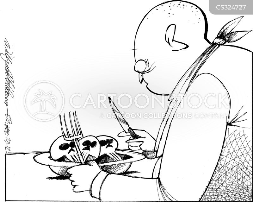 unhealthy eating cartoon