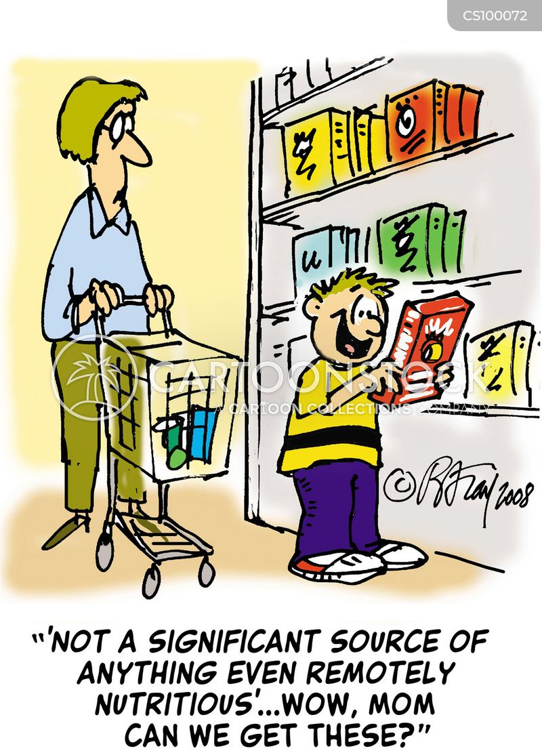 food shops cartoon