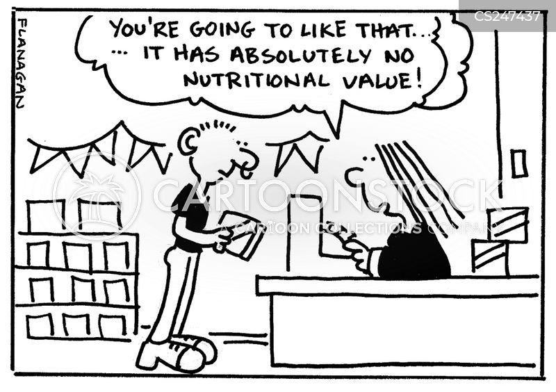 nutritional value cartoon