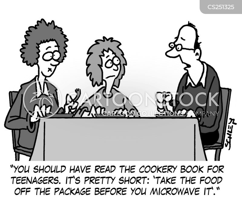 microwave meals cartoon