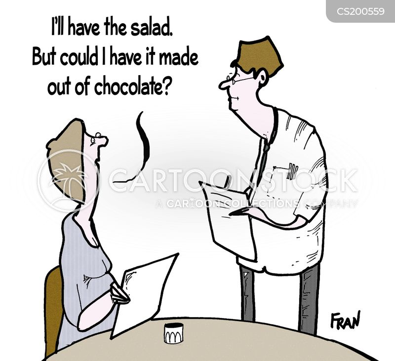healthy options cartoon
