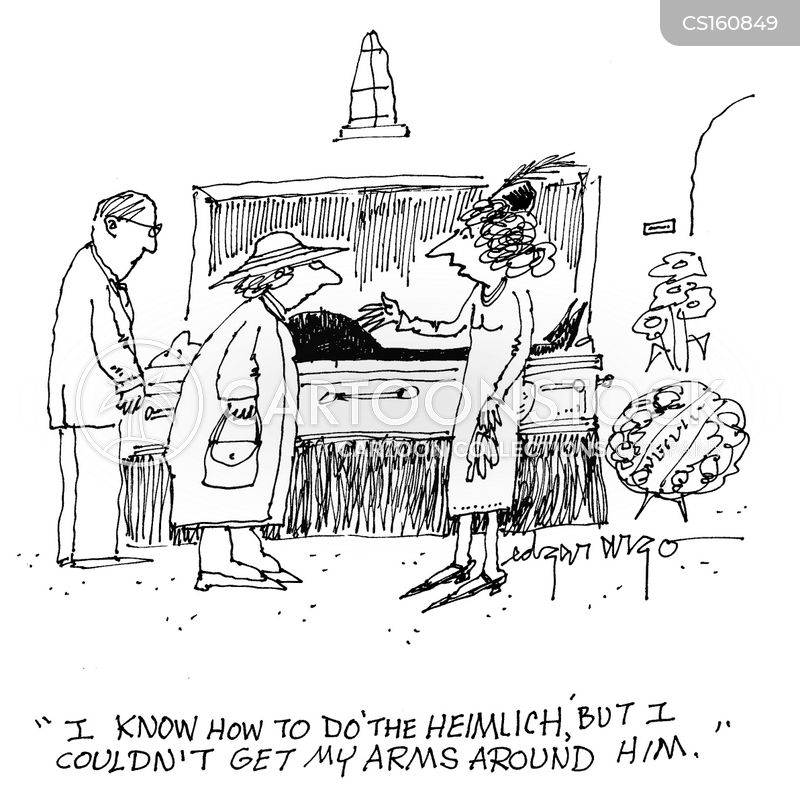 heimlich maneuvers cartoon