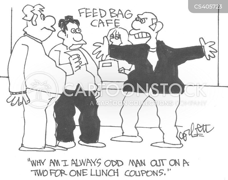 lunch coupon cartoon