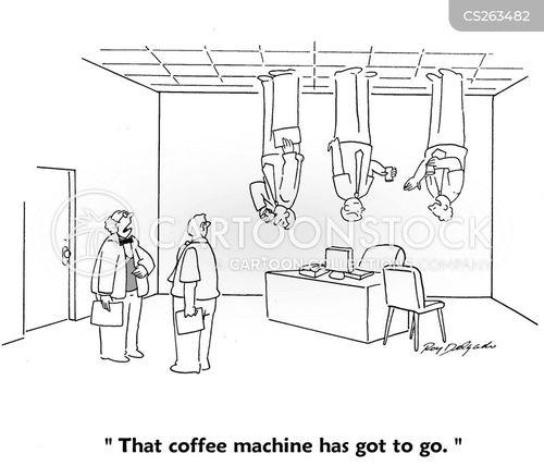 coffee drinking cartoon