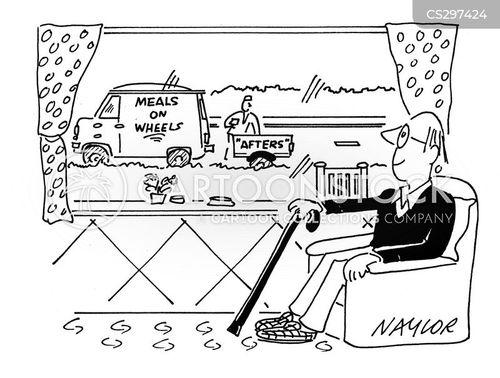 elderly home cartoon