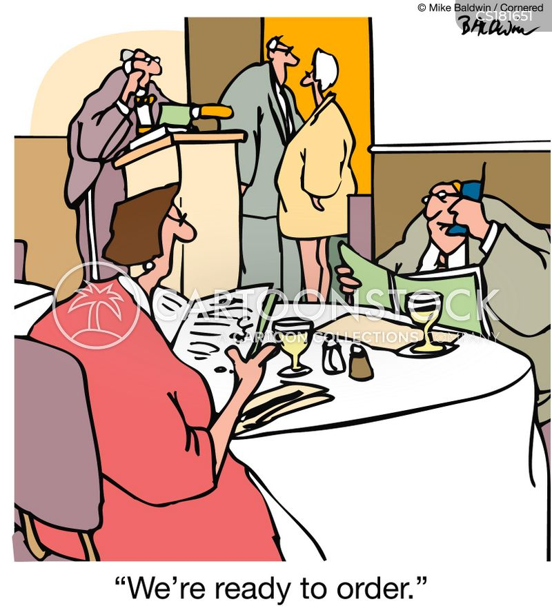 food orders cartoon
