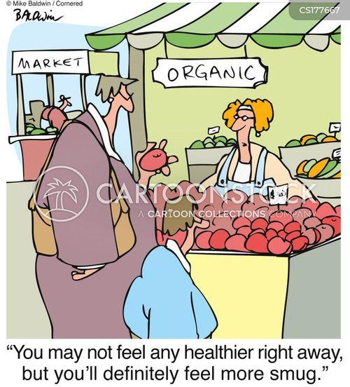 organic farms cartoon