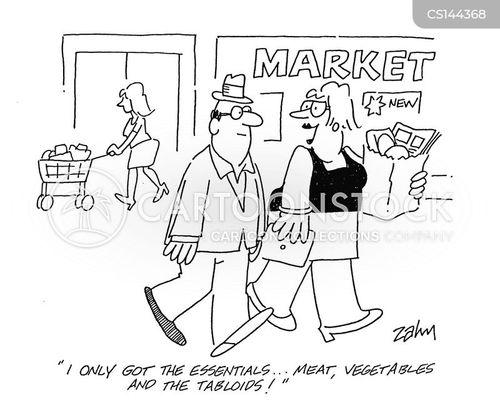 tabloid paper cartoon