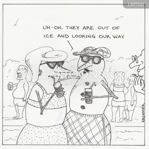 pool party cartoon