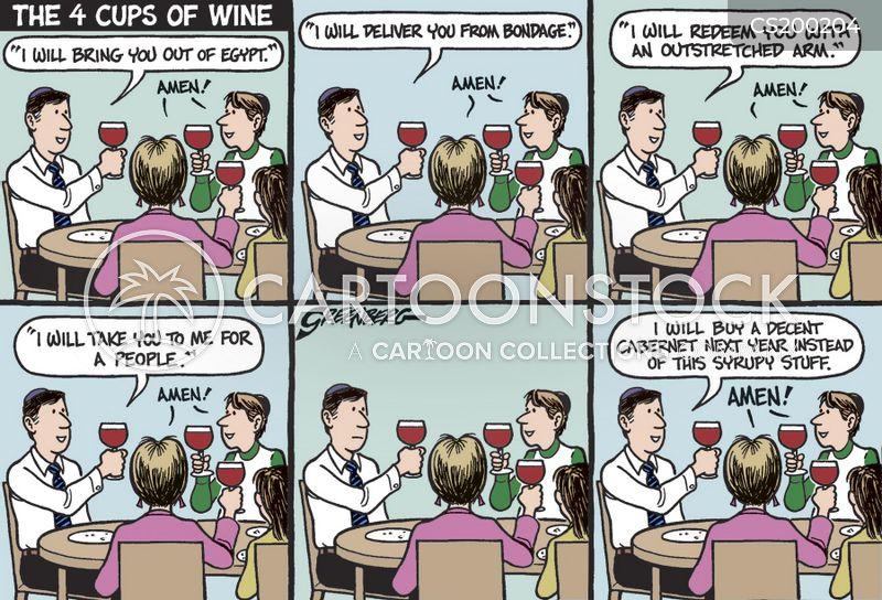 drinking wine cartoon