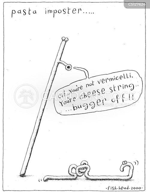 cheese string cartoon