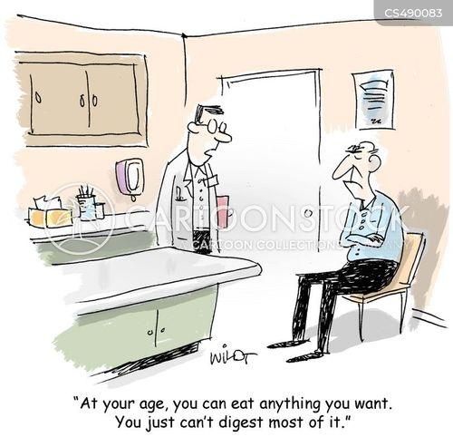 digestion problems cartoon