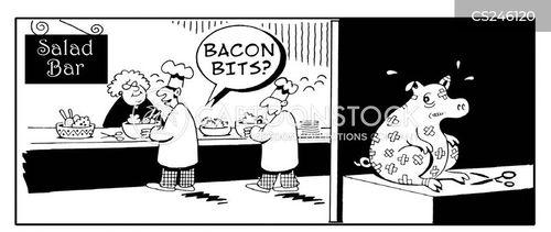 bacon bits cartoon