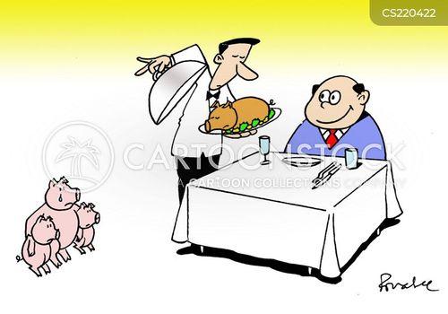 roast pork cartoon