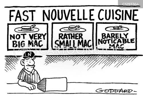 haute cuisine cartoon