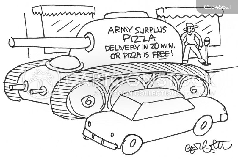 fast delivery cartoon