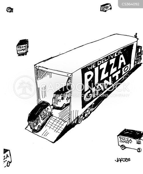 pizza delivery boy cartoon