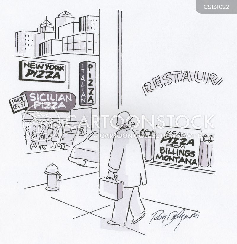 pizza shops cartoon