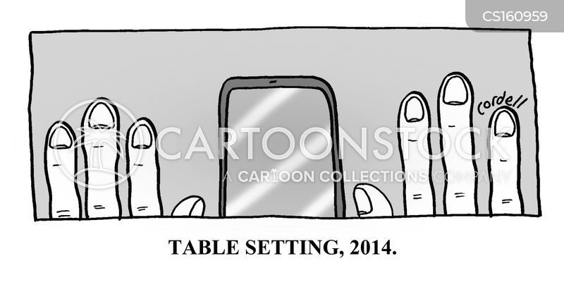 Table Settings cartoon 3 of 5  sc 1 st  CartoonStock : setting table etiquette - Pezcame.Com