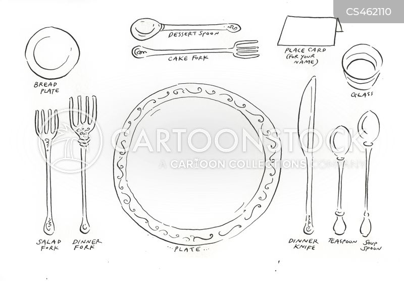 Table Settings cartoon 5 of 5  sc 1 st  CartoonStock & Table Settings Cartoons and Comics - funny pictures from CartoonStock