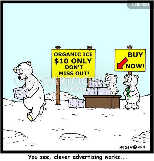 ice cubes cartoon