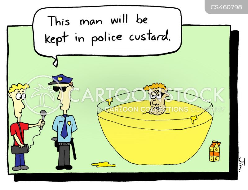 police custody cartoon