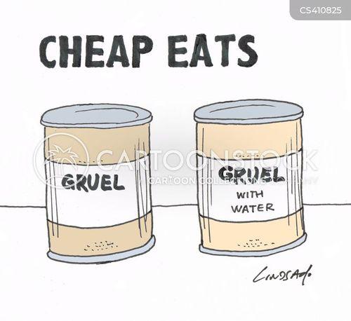 tinned foods cartoon