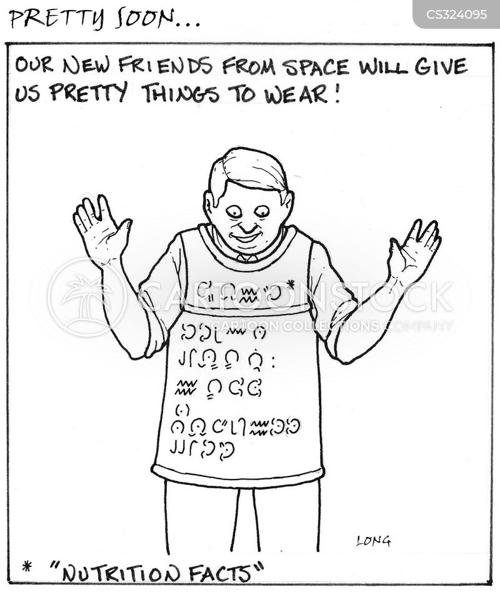 nutrition facts cartoon