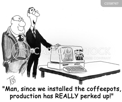 coffee machine cartoon