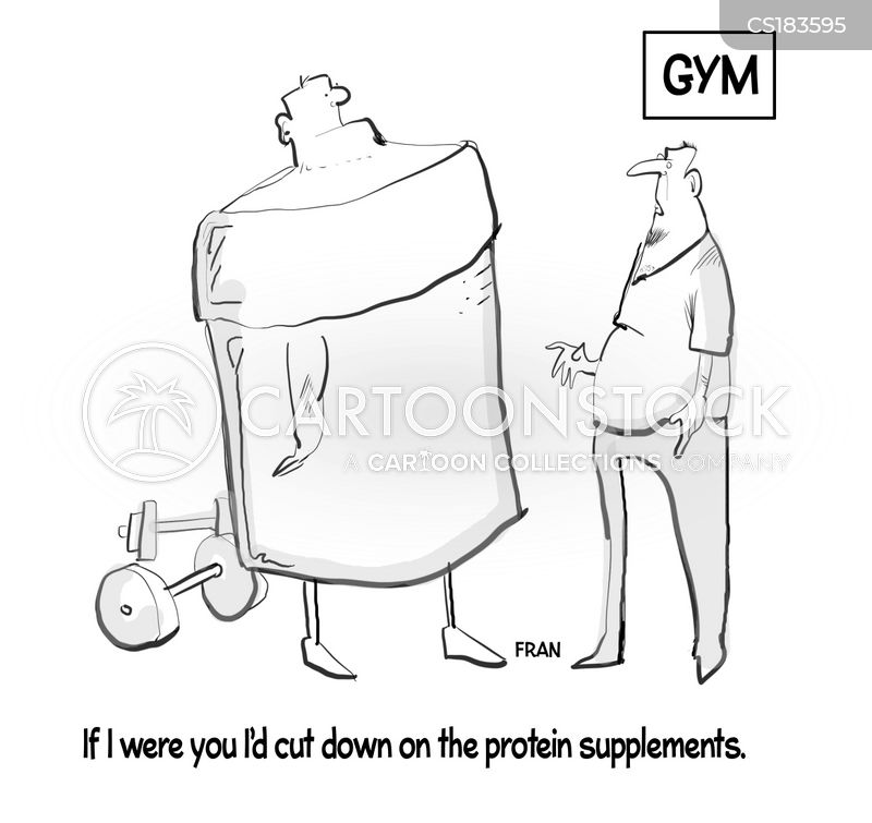 food supplement cartoon