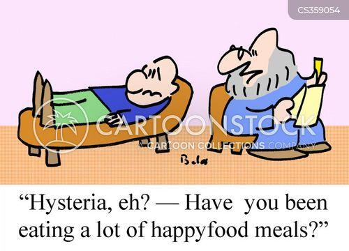 hysterical cartoon