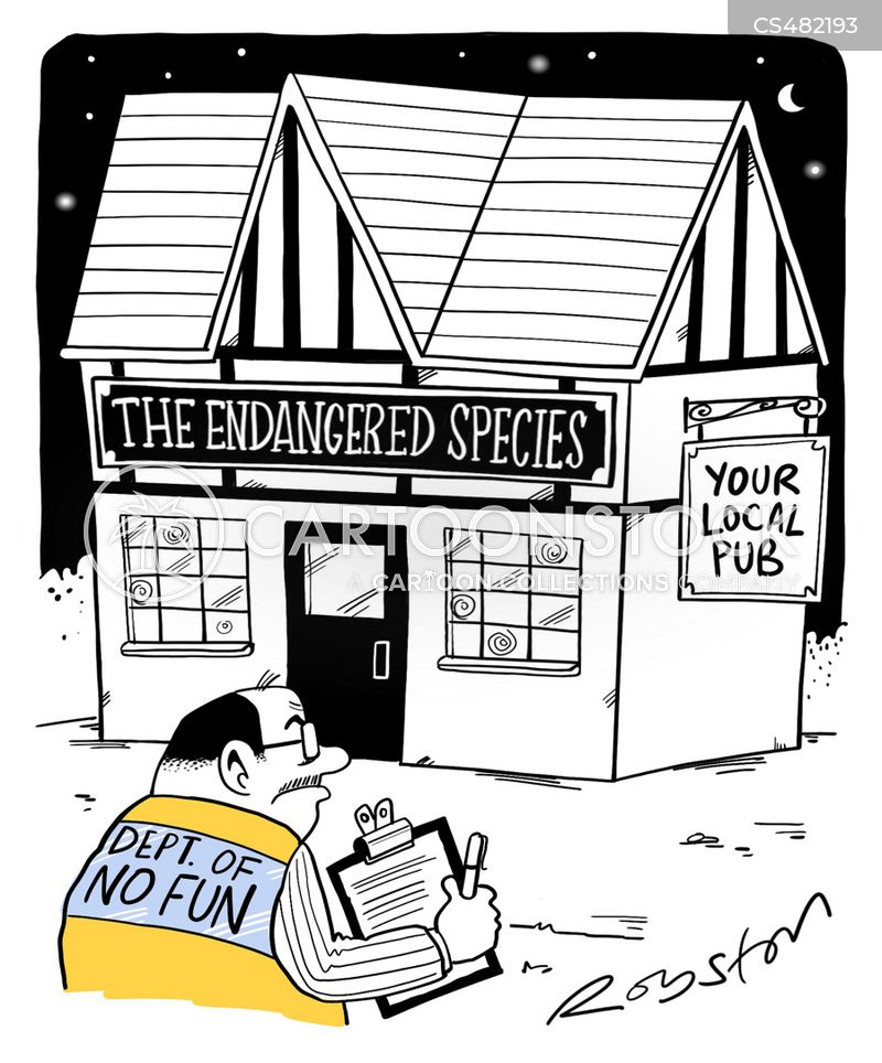 pub closures cartoon
