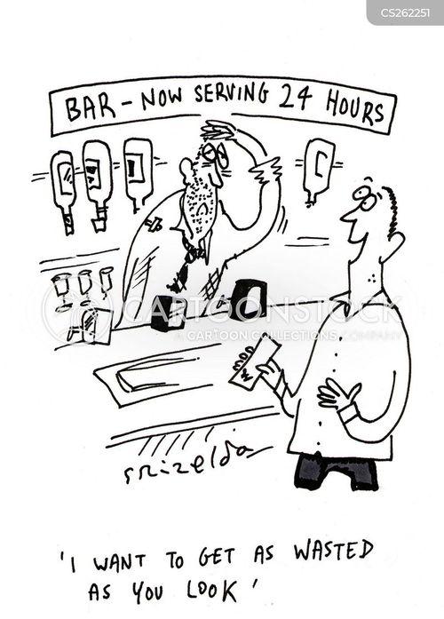 bar staff cartoon